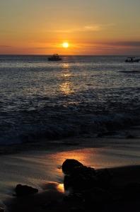 Sunset on Floreana, the Galapagos Islands